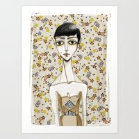 Flowerella 1 Art Print