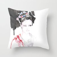 Watercolor Illustrations Throw Pillow