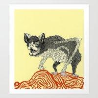Batty Art Print
