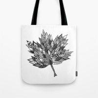 Zentangle Leaf Tote Bag