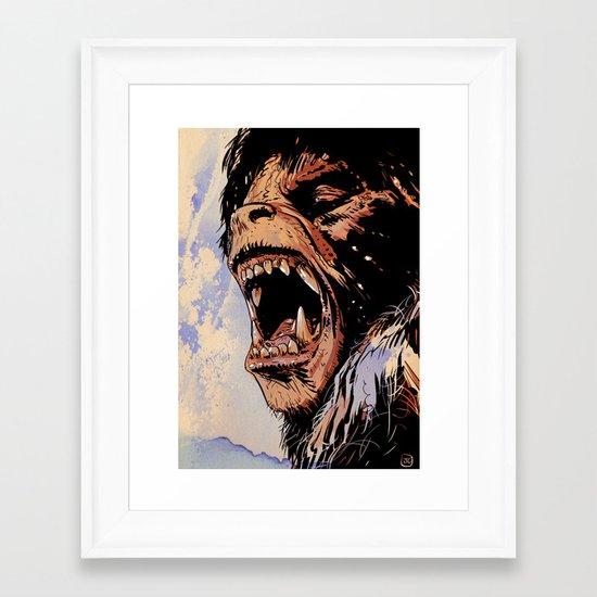 an american werewolf in london Framed Art Print