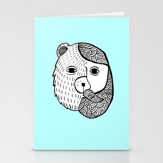 Werebear Stationery Card