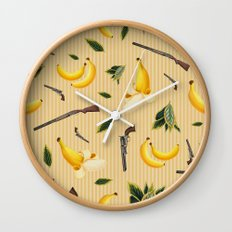 Wild West Gone Bananas! Wall Clock