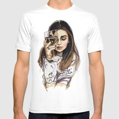 Wednesday Mens Fitted Tee White SMALL