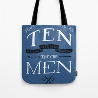 Youths as Youth as Ten Walking Round Thinking They're Men  Tote Bag