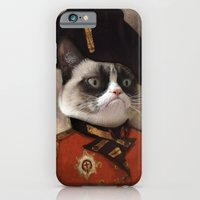iPhone & iPod Case featuring Angry cat. Grumpy General Cat.  by Catalin Anastase