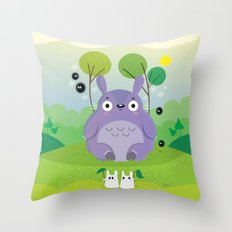 Cute neighbor Throw Pillow