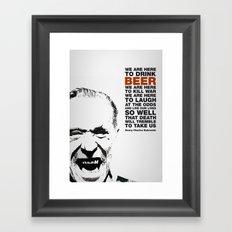 beer&bukowski Framed Art Print