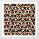Sushi Panda Pattern Art Print