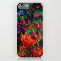 Grungy flowers background iPhone 6 Slim Case
