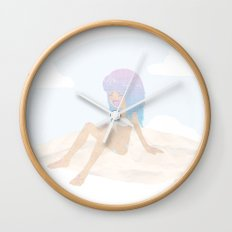 Pastel Beach Wall Clock