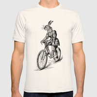 The Bicycle Bunny Mens Fitted Tee Natural SMALL