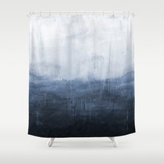 The Storm - Ocean Painting Shower Curtain