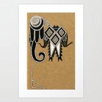 Tribal Crest Art Print