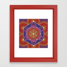 Fire Star Framed Art Print