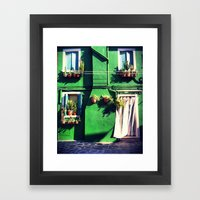 A Green Life Framed Art Print