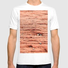 Life in the Cracks White Mens Fitted Tee SMALL
