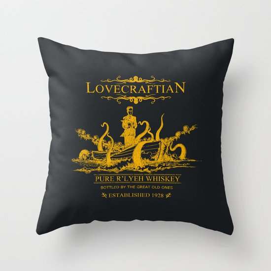 Lovecraftian Whiskey Throw Pillow