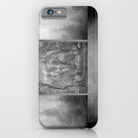 Collage Misty trees iPhone & iPod Case