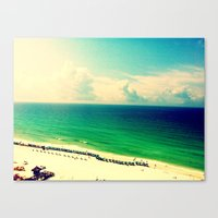 Canvas Print featuring BeachTrip2012 by Lindsey