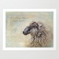 The Lord Is My Shepherd Art Print
