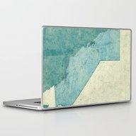 California Map Blue Vint… Laptop & iPad Skin