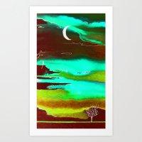 Autumn Night Art Print