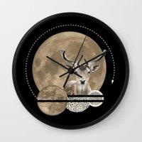 Real. Reindeer. Wall Clock