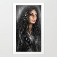 Dark Roses Art Print