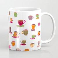 Coffee Cup Green & Orange Mug