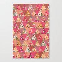 GEOMETRIC MODERN FLOWERS Canvas Print