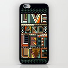 LIVE & LET LIVE iPhone & iPod Skin