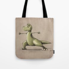 Dinosaur Warrior Tote Bag