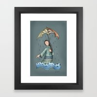 Sad Blueness Framed Art Print