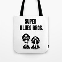 Super Blues Bros. (Black… Tote Bag