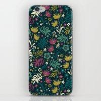 Midnight Florals (pop) iPhone & iPod Skin