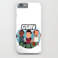 iPhone & iPod Case featuring Grand Theft Auto V Cartoon by Aaron Lecours
