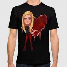 Buffy the Heart Slayer Mens Fitted Tee SMALL Black