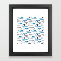 Whale Constellation Framed Art Print