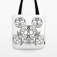 Mickey Sugar Skull Tote Bag