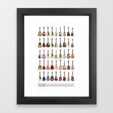 Fab Four Guitars Framed Art Print