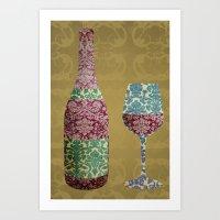 Vintage Wine Art Print