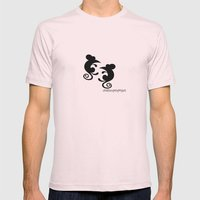 Mice Mens Fitted Tee Light Pink SMALL