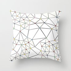Seg with Color Spots White Throw Pillow