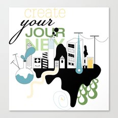 Create Your Journey - Typography & Illustration Canvas Print