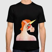 Unicorn Bowie Mens Fitted Tee Black SMALL