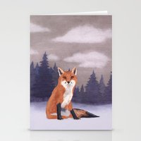 Lone Fox Stationery Cards