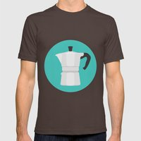 #67 Bialetti Mens Fitted Tee Brown SMALL