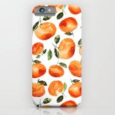 Watercolor tangerines iPhone 6 Slim Case