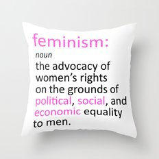 Feminism Defined Throw Pillow